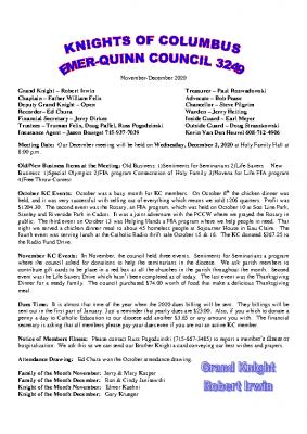 Newsletter Nov-Dec 2020