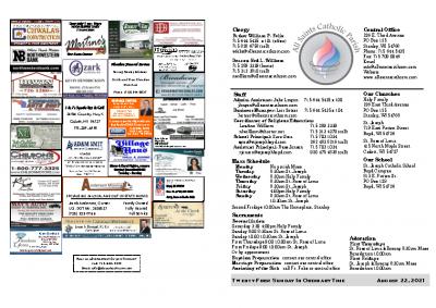2021 Bulletin August 22